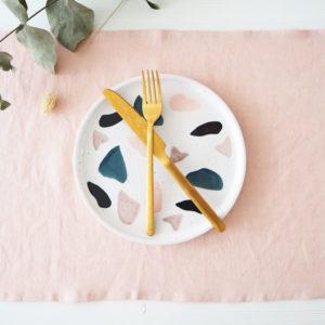 Platzset Tischset Leinen Baumwolle Apricot