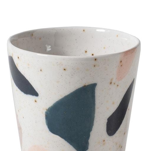 geschirr terrazzo portugal teller becher blumentopf vase keramik rosa terrazzo rosa