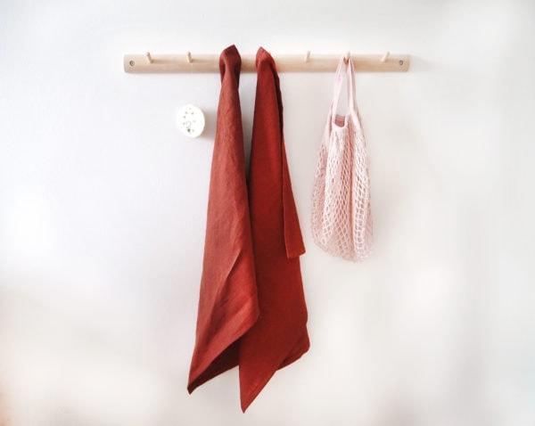geschirrtuch leinen rostrot online shopping dekoration handmade