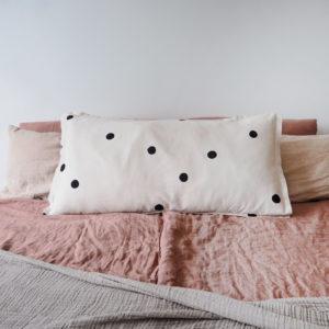Kissen Kissenbezug Satin punkte baumwolle Baumwollsatin print